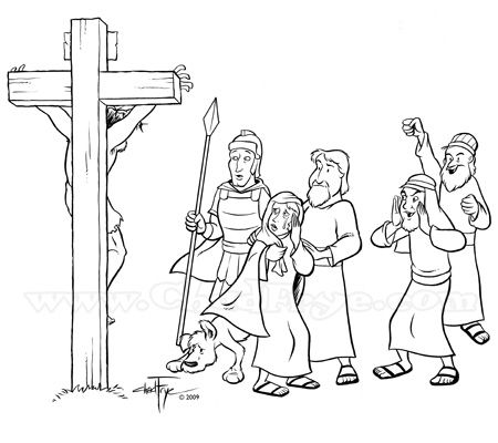 92 best images about bible trial crucifixion on pinterest for Coloring pages of jesus on the cross