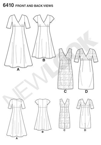 NL6410 Misses dress with skirt and fabric variations