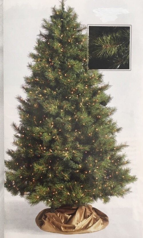 7.5' Frontgate Artificial PreLit Christmas Tree Virginia Pine #Frontgate