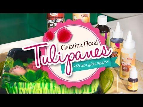 (21) Gelatina Floral Tulipanes (Técnica Gubiagujas # 1 - 17 - 26) PASO A PASO - YouTube