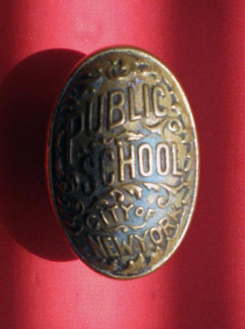 """""""Public School ,City of New York"""" antique doorknob"""