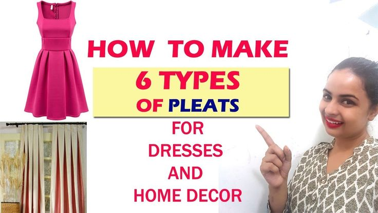 How to make 6 Types of Pleats|For dress & home decor |Full tutorial  | I...