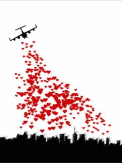 Just flying over to drop hearts all over your house and lawn !!... Lol. Surprise !!!.... Happy valentines day !!!!! And everyday !! Oooooooooooooo. : c )