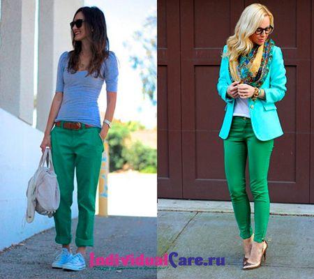 С чем носить зеленые брюки: фото и советы