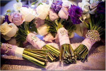 Wedding, Flowers, Purple, Purple flowers, Bouquet jewels, Bouquet jewelry