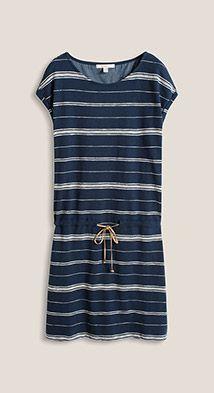 Esprit / Gestreepte jersey jurk van een katoenmix