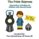 book of the month activities for students with special needs. interactive and created using board maker pcs symbols. The Polar Express can be used for the month of December to learn about winter!