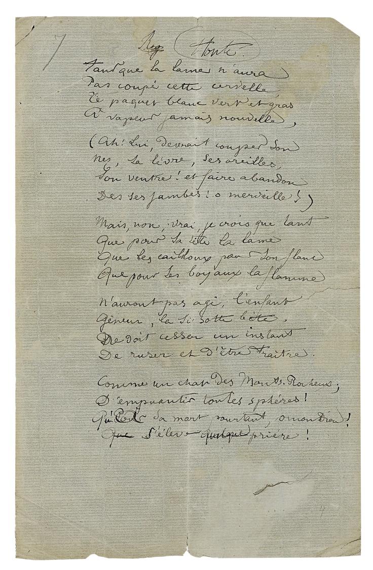 Rimbaud Handwritten Artexperiencenyc