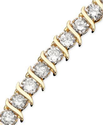 Diamond Tennis Bracelets in 10k Gold (5 to 6 ct. t.w.) | macys.com