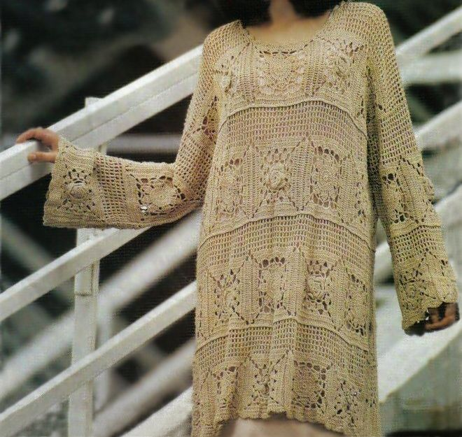 Boho Crochet Patterns : crochet ... Crochet tunic PATTERN, boho dress pattern, beach crochet ...
