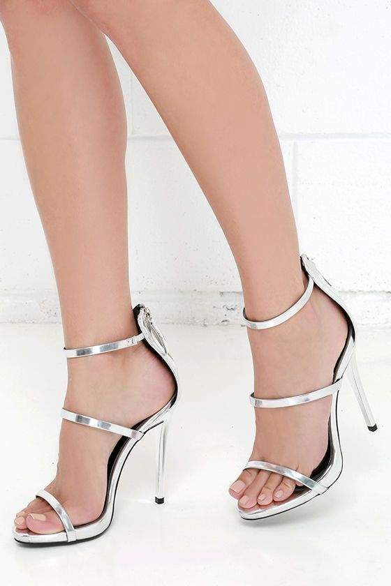 Magnetic Charm Silver Dress Sandals at Lulus.com!