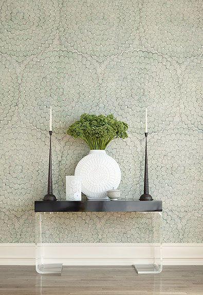 Feather Bloom in Emerald & Ore, 5006072. http://www.fschumacher.com/search/ProductDetail.aspx?sku=5006072 #Schumacher #celeriek