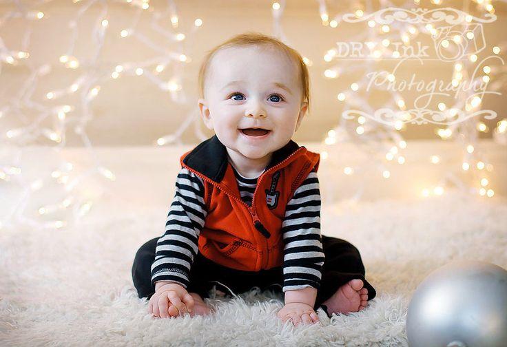 cute idea for christmas baby photo shoot