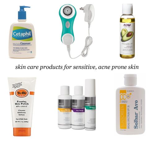Skin Care Products for Sensitive, Acne Prone Skin