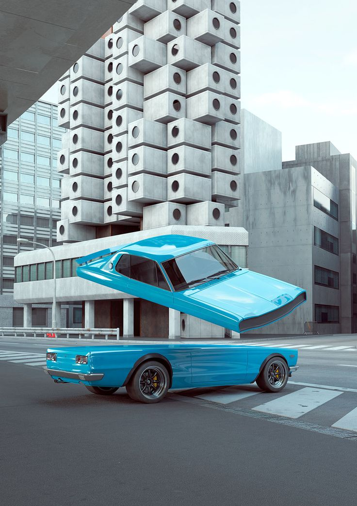 "Elastic Vehicles: Warped und Contorted Car Designs von Chris Labrooy   – 3D game ""spacy"""