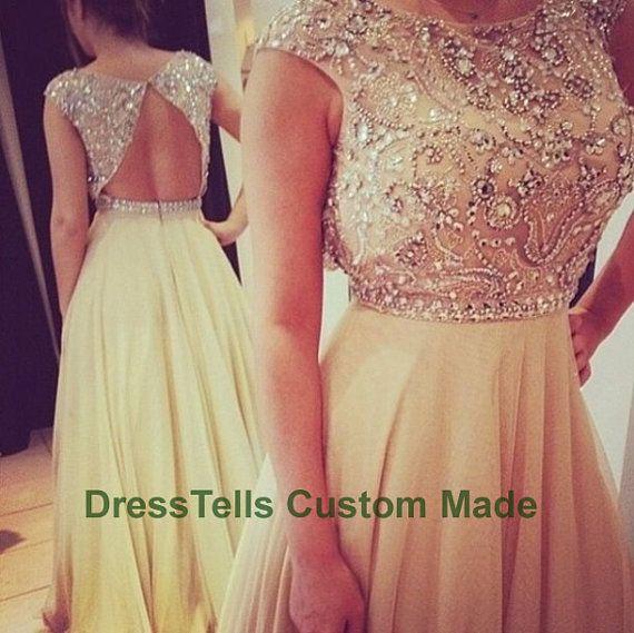 Long Sweet 16 Dress /  Prom Dress 2014 /  Beaded Evening Dress / Party Dress / /Homecoming Dress/Graduation Dress/Formal Dress