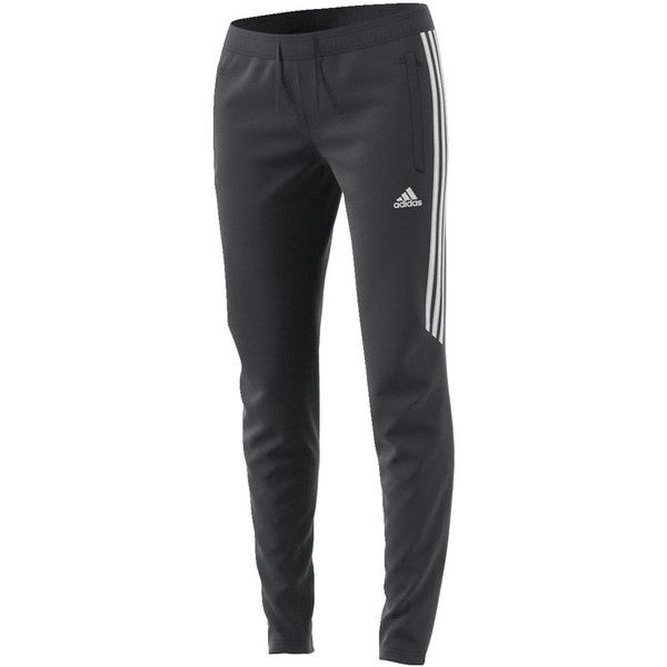 adidas Women's Tiro 17 Training Pant 2 Grey Pants L-Regular ($45) ❤ liked on Polyvore featuring activewear, activewear pants, grey, adidas, adidas sportswear and adidas activewear