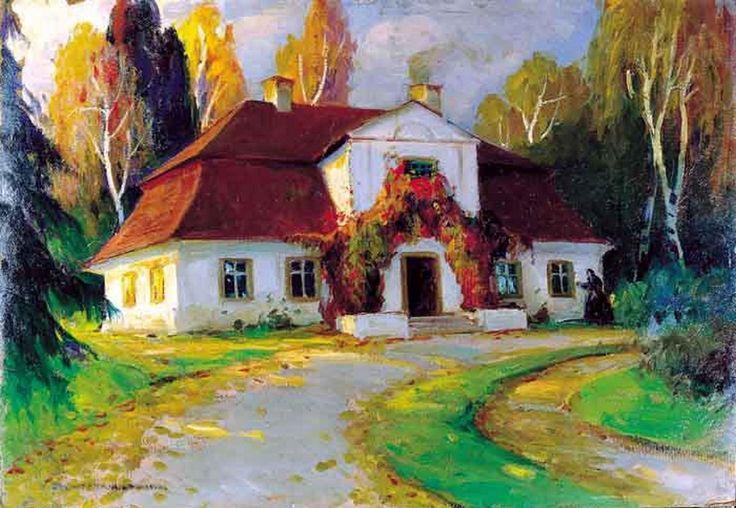 Bronisława Rychter-Janowska (1868-1953) —  Dworek z dzikim winem (900x622)