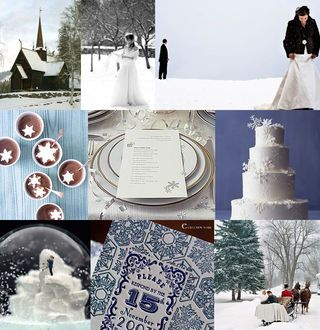 hues of blues in the winter time, great for any classy winter event!