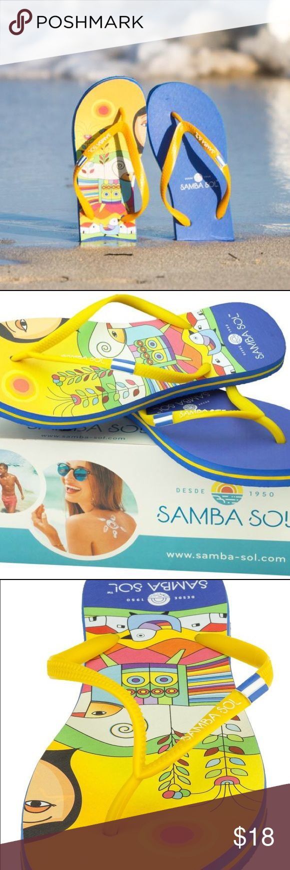 Samba Sol El Salvador Flag Flip Flops 🇸🇻 Samba Sol Women's El Salvador Flag Flip Flops🇸🇻 ENVIRONMENTALLY FRIENDLY! Made with recyclable Brazilian rubber, your purchase actually helps protect the Amazonian rainforest!🌎 They come in sizes 5/6, 7/8, 9/10, and 11/12.                                                          (Not Havaianas. Brand tagged for exposure) Havaianas Shoes Sandals