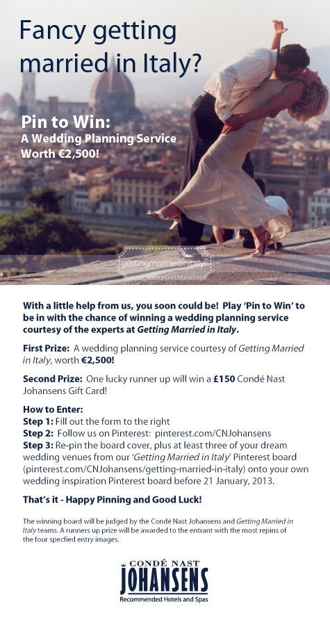 Fancy Getting Married in Italy? Then meet our exciting new partner and wedding planning experts, 'Getting Married in Italy'. Whether you're planning a big family wedding or a small intimate affair, they offer a completely tailor-made service to help you plan your dream wedding! #GettingMarriedinItaly.com
