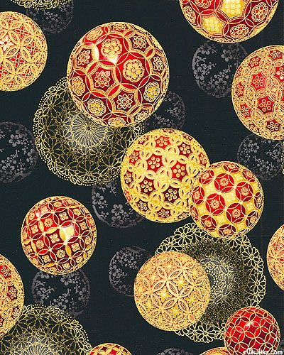 'Christmas in Kyoto' collection by Robert Kaufman Fabrics.