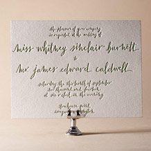 Letterpress Wedding Invitations   Browning Design   Bella Figura Letterpress