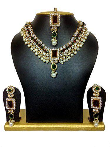 Bollywood Inspired White Pearls Kundan Cz Beautiful Red G... https://www.amazon.com/dp/B01MPWGOHE/ref=cm_sw_r_pi_dp_x_iUm0ybBZ5BE8T