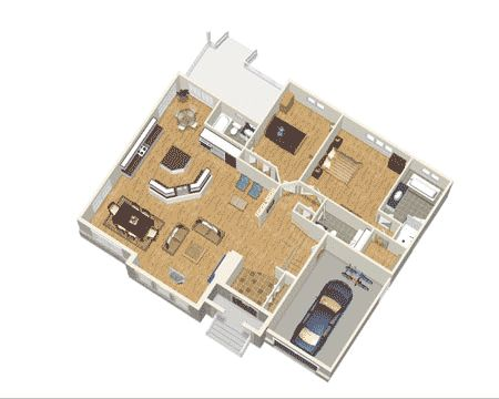 Plan 80649pm Elegant One Story Home Plan Home Designsouthern 3d Floor 11