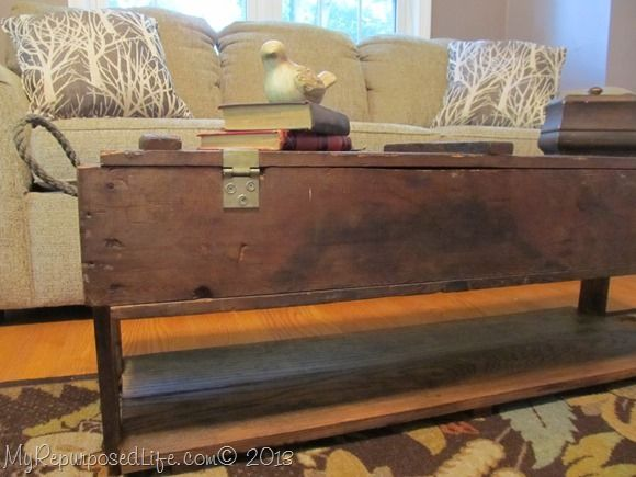 Repurposed Vintage Ammo Box Coffee Table & 25+ unique Ammo boxes ideas on Pinterest   Wine crates for sale ... Aboutintivar.Com