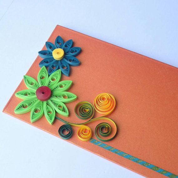 Creative and exclusive envelopes made from envelopes made from Quilling strips  We can customize as per your preference. Leave a note while placing order.