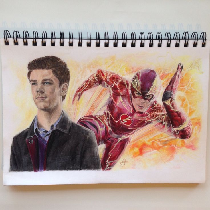 The Flash and Barry Allen  Drawing