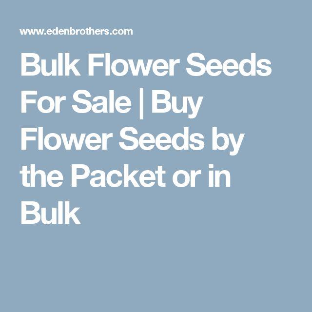 Bulk Flower Seeds For Sale   Buy Flower Seeds by the Packet or in Bulk