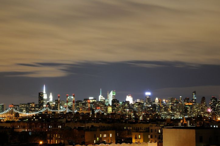Image result for queens skyline night