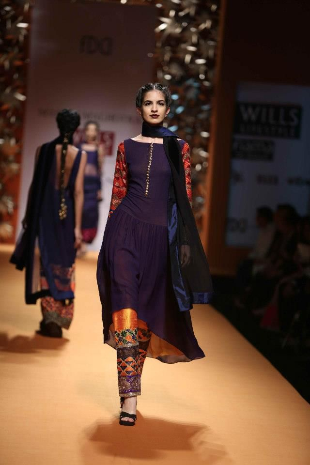 phulkari suit - Manish Malhotra Wills Lifestyle India Fashion Week AW13