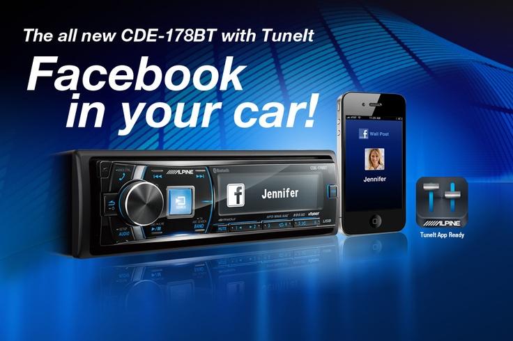 alpine cde 178bt facebook in your car alpine electronics. Black Bedroom Furniture Sets. Home Design Ideas