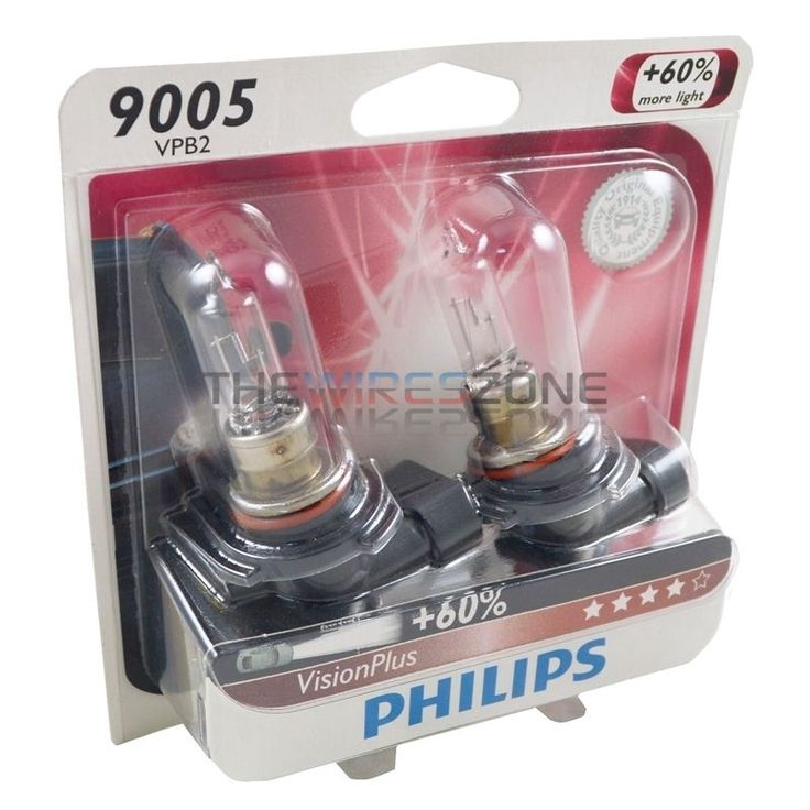 Philips Vision Plus 9005 65W +60% More Light Halogen Car Headlight Bulb (pair) #Philips