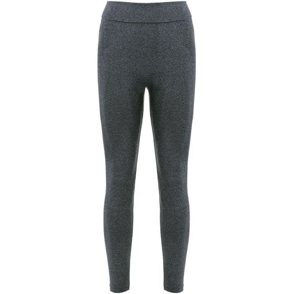 Sports Elastic Waist Solid Color Women's Leggings (25 BAM) via Polyvore featuring elasticated waist trousers, elastic waist pants, sports pants, sports trousers and sport trousers