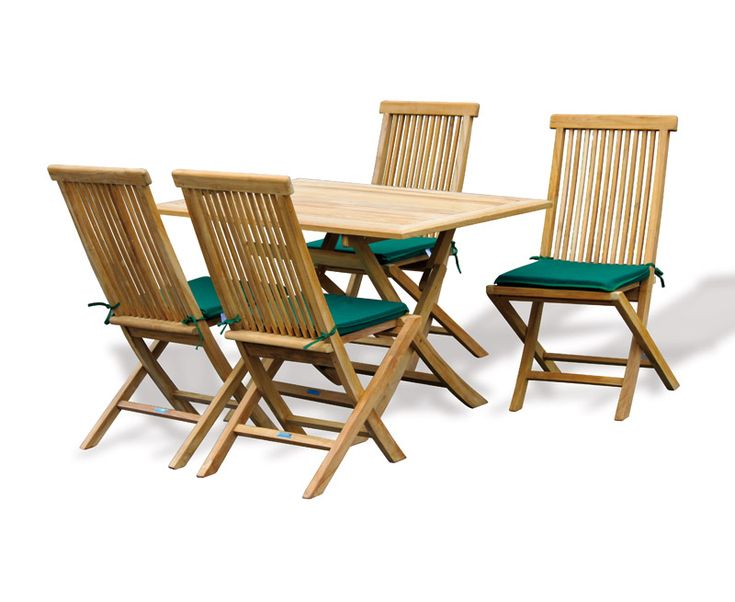 Rimini Teak Wood Folding Table. This Compact Bijou Teak Garden Furniture  Set Is Made From Plantation Sustainable Teak And Solid Brass Fittings To  Ensure ...
