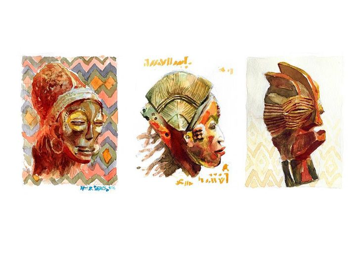 Finally I properly scanned my #Tribal watercolor collection. There are now five artworks. You can own them by visiting my Society6 shop (link in my Bio). . . . . .  #mooeti #portrait #watercolor #painting #traditionalart #drawing #draw #sketch #art #artist #arte #artoftheday #artistic  #illustration  #instaart #instaartist  #beautiful #talent #creative #instadraw #culture #relic #african #museum #ethnic #artwork #artistsoninstagram #artcollective #woman