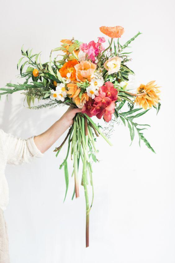 Eclectic French Tulip, Iris, Sweetpea & Icelandic Poppy Bouquet
