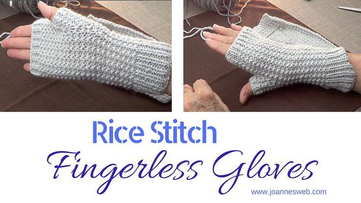 Rice+Stitch+Fingerless+Gloves