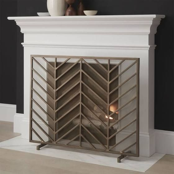 brass fireplace grate cover