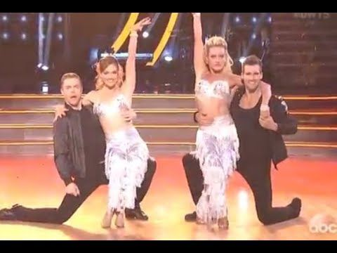 DWTS 18 WEEK 8 THE BEST : James Maslow & Peta AND Derek Hough & Amy  (Ma...