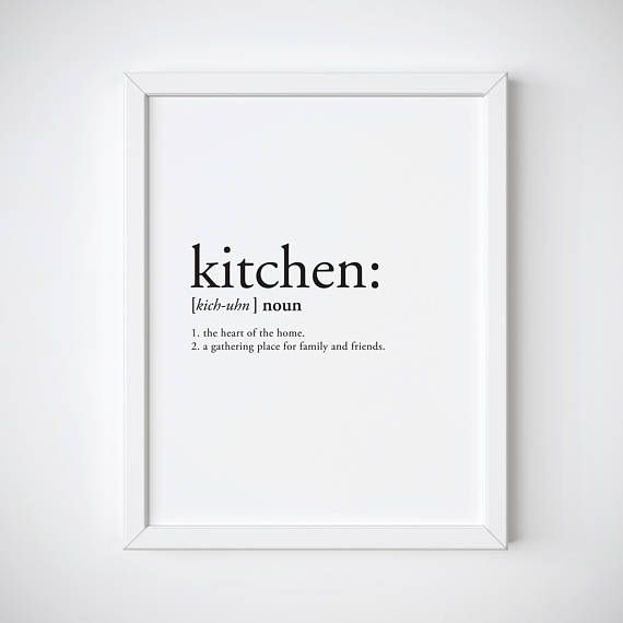 Kitchen Definition Print Https://www.etsy.com/listing