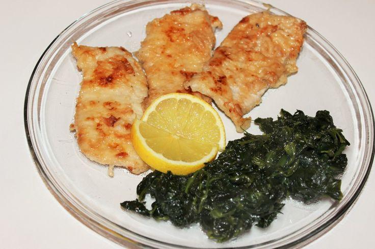 Scaloppine al limone e spinaci
