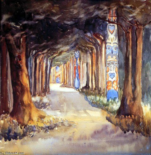 Marche Totem A Sitka de Emily Carr (1871-1945, Canada)