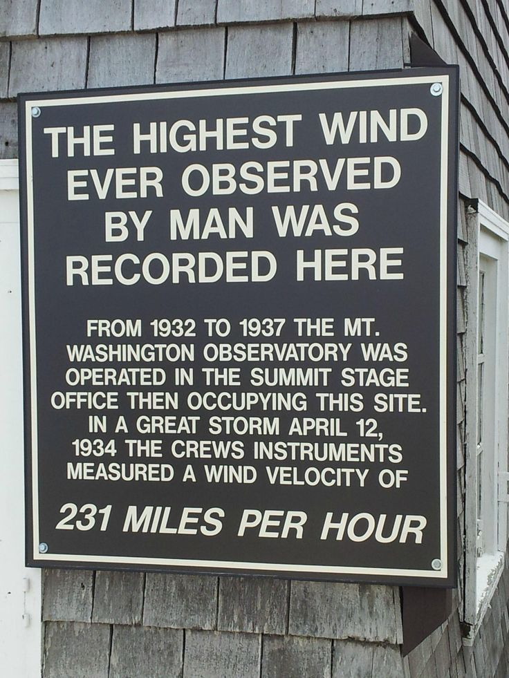 Plaque at the summit of Mt Washington, NH