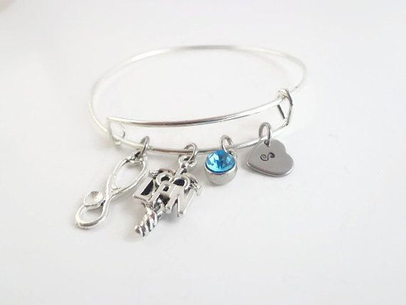 LPN Gift ~ Bracelet for a nurse , Graduation Gift for a Nursing Student , Pinning Ceremony Jewelry Gift , Retirement token for a nurse,