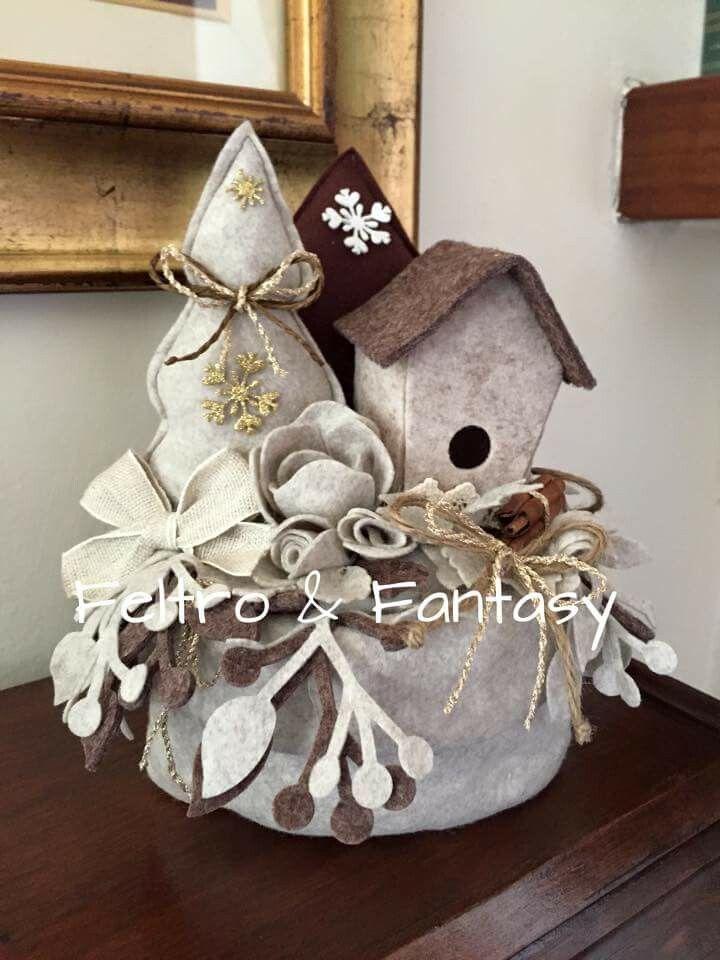 Pin di Manuela Dal Corso su feltro  Christmas decorations Christmas e Christmas crafts